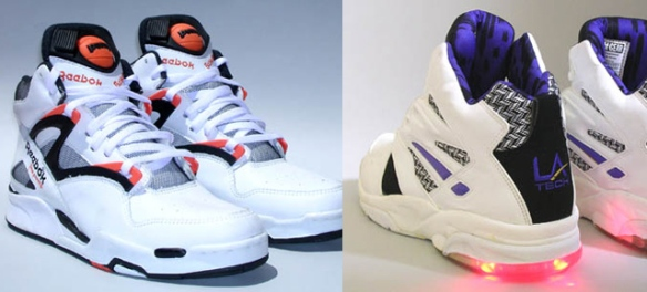 Reebok Pumps and L.A. Lights light-up sneakers