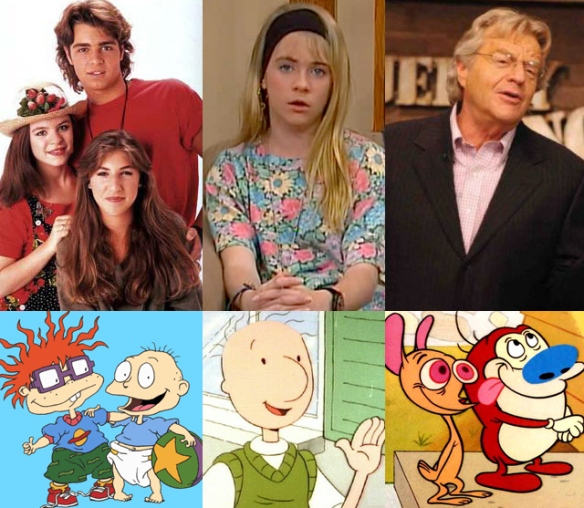 Blossom, Clarissa, Jerry Springer, Rugrats, Doug and Ren & Stimpy