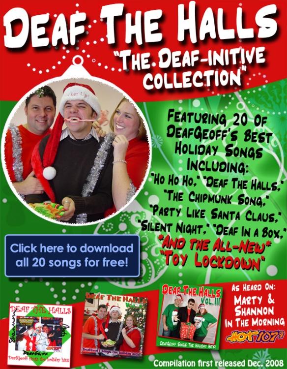 Deaf The Halls, DeafGeoff's holiday parody album