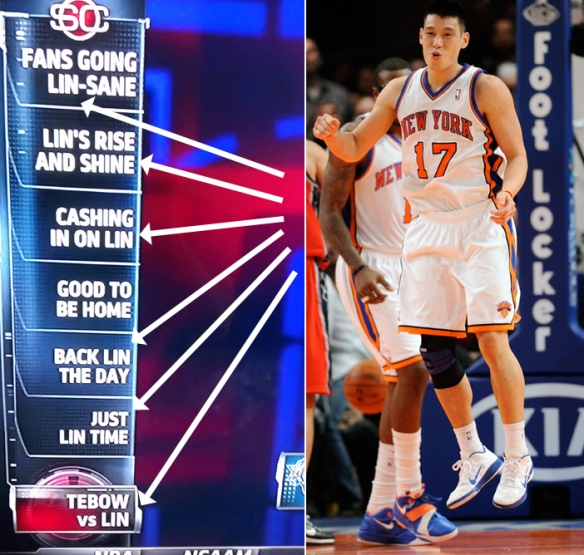 Even Jeremy Lin is jumping with 'Linsanity.'