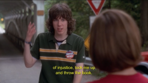 John Gallagher Jr. on 'The West Wing' in 2002