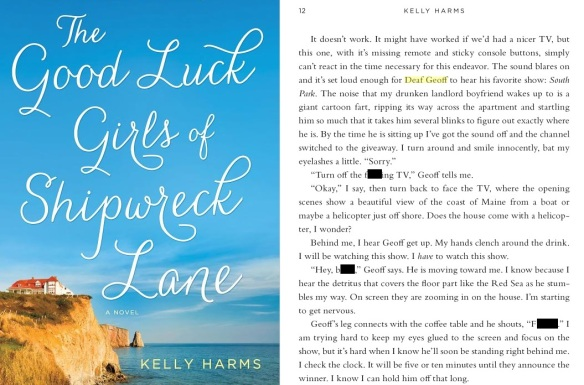 Yours truly appears on page 12 of the new book 'The Good Luck Girls of Shipwreck Lane' by Kelly Harms. Well, sort of.