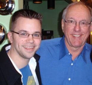 Geoff Herbert with Syracuse basketball coach Jim Boeheim