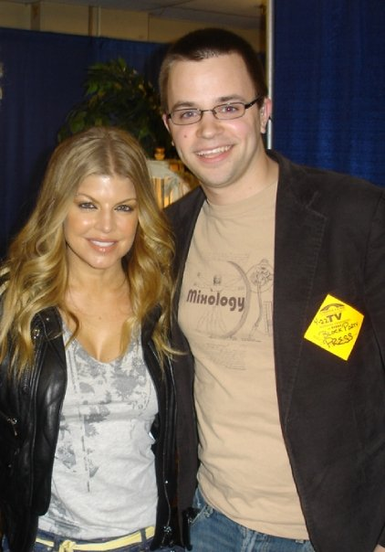 Geoff Herbert with Black Eyed Peas singer Fergie.