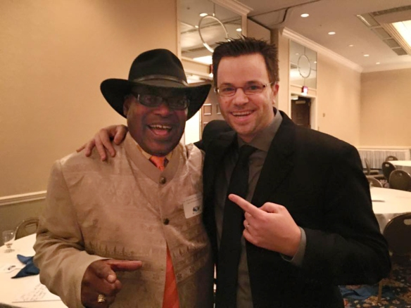 Dr. Rick Wright and DeafGeoff at the WJPZ 30th Anniversary Banquet at Syracuse University.